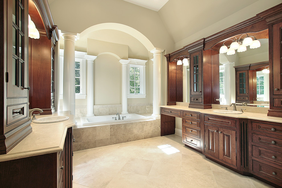 Large Master with large soaker tub as focal point