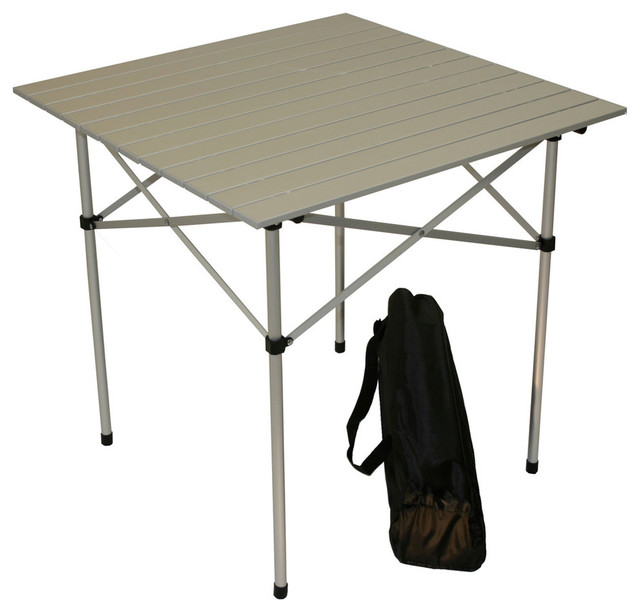 Tall Aluminum Table In A Bag Silver