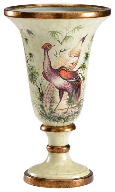 Chelsea House Pheasant Trophy Porcelain Vase 382035 Traditional