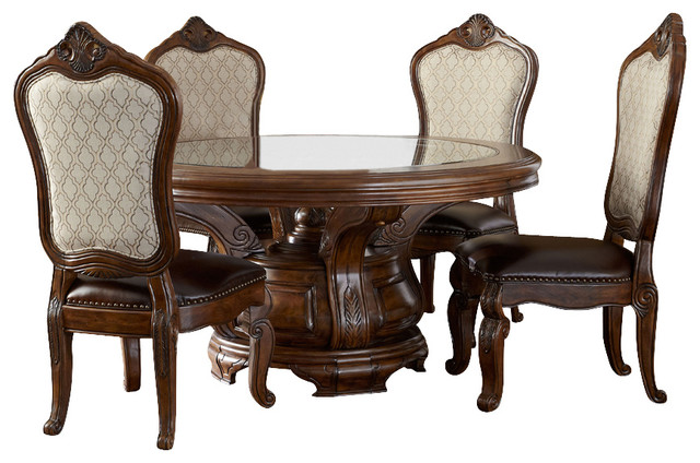 Round Dining Table Set For 6 tuscano melange round dining table - victorian - dining sets -