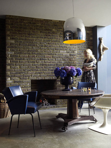 Abigail Ahern's basement dining area eclectic dining room