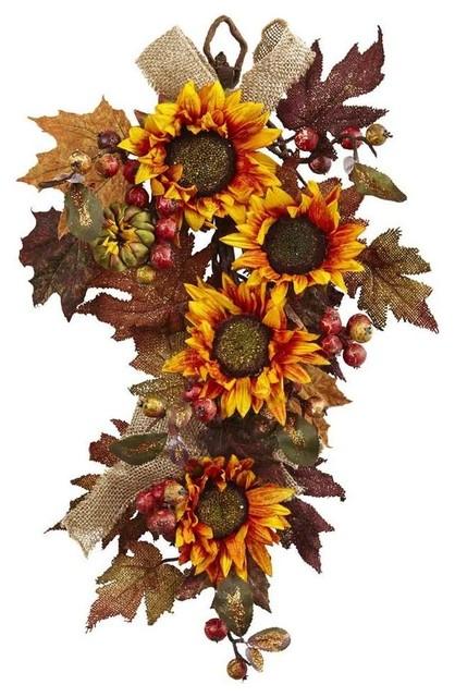 Sunflower And Berry Teardrop.