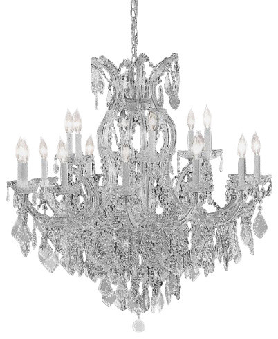 Maria theresa crystal silver chandelier traditional chandeliers maria theresa crystal silver chandelier aloadofball Gallery