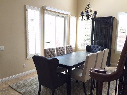 Help With Dining Room Curtains Chandelier