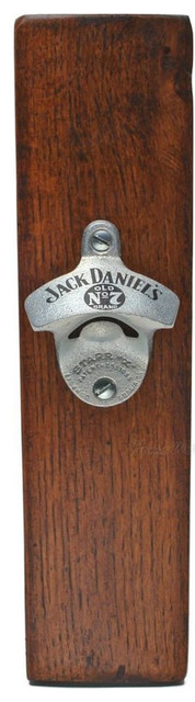 jack daniels barrel slat and mounted bottle opener craftsman wine and bottle openers by. Black Bedroom Furniture Sets. Home Design Ideas