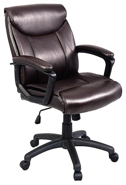 Enjoyable Ergonomic Pu Leather Mid Back Modern Style Executive Office Chair Machost Co Dining Chair Design Ideas Machostcouk