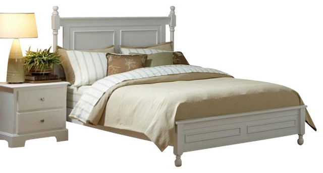 Homelegance Morelle 5-Piece Bedroom Set in White - Traditional ...