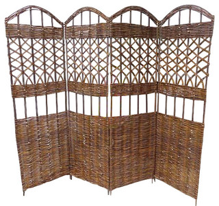 Willow screen 4 panel divider 72 w x 60 h screens and for Garden dividers screens