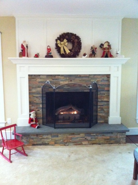 Ugly brick fireplace remodeled teraionfo