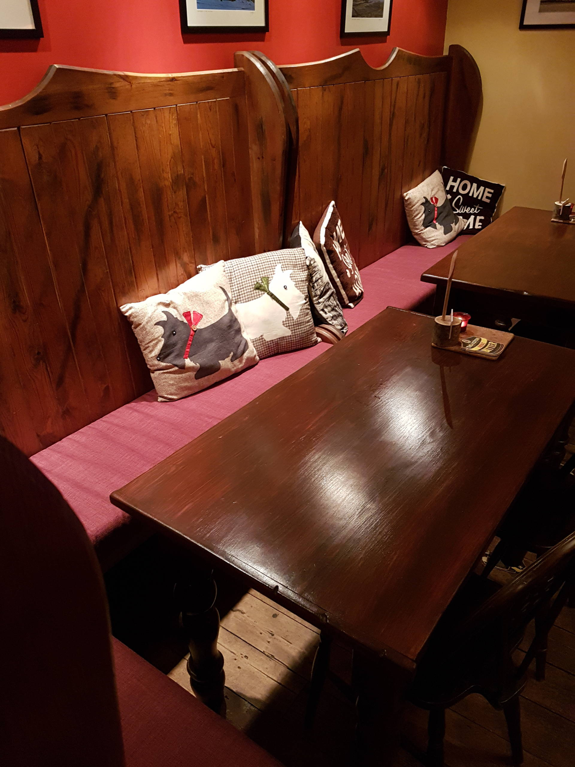Seating for Crown Hotel, Hawes
