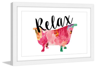 "Relax Tub"" Framed Painting Print - Contemporary - Prints And Posters ..."
