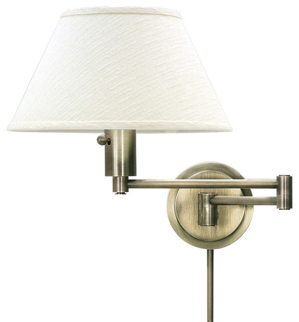 home office 1 light wall sconce in antique brass