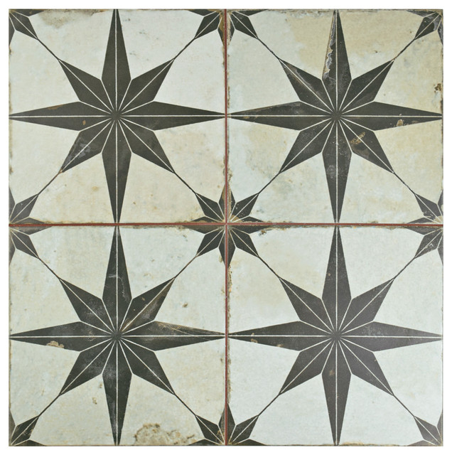 "17.63""x17.63"" Apollo Ceramic Wall/floor Tiles, Set Of 5."