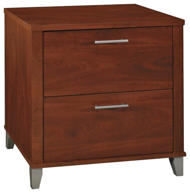 Bush Somerset 2-Drawer Lateral Wood File Cabinet in Hansen Cherry - Transitional - Filing ...
