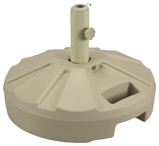 Patio Living Concepts Umbrella Base Stands 00264 Umbrella Stand In Beige  Contemporary Outdoor Umbrella