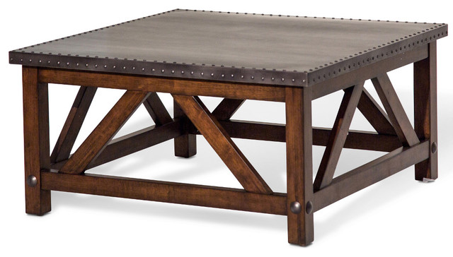 222d6b755bf0 AICO Michael Amini Brighton Square Cocktail Table - Rustic - Coffee Tables  - by Warehouse Direct USA