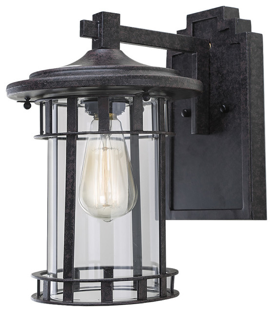 Exterior Wall Lights Industrial : Rust 1-Light Outdoor Wall Lantern, Brown - Industrial - Outdoor Wall Lights And Sconces - by LNC ...