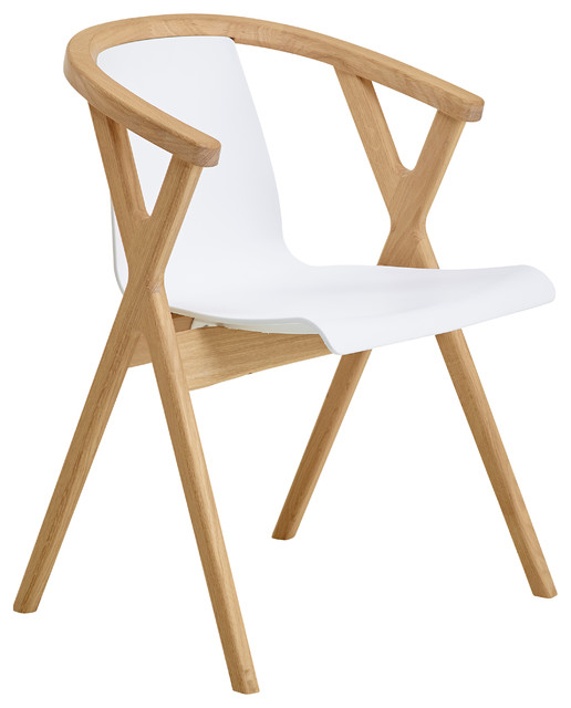 CASO Furniture Mr. X Chair, Oak And White Scandinavian Dining Chairs