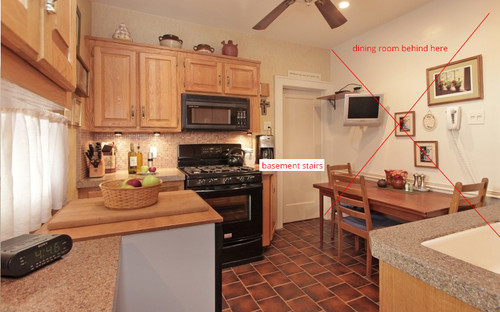 Internal Knock Through Between Kitchen And Dining Room: How To Reconfigure A Small Awkward Kitchen?