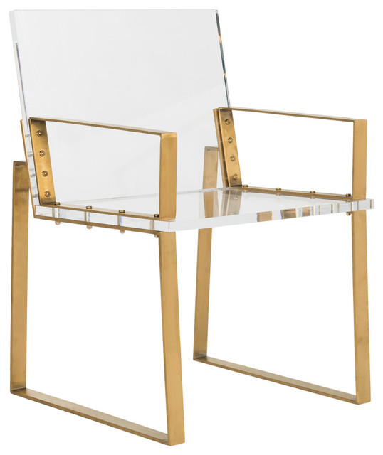 Safavieh Langston Acrylic Arm Chair