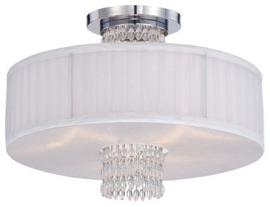 Designers Fountain 83911 Candence 3 Light Semi-Flush Mount Ceiling Fixture.