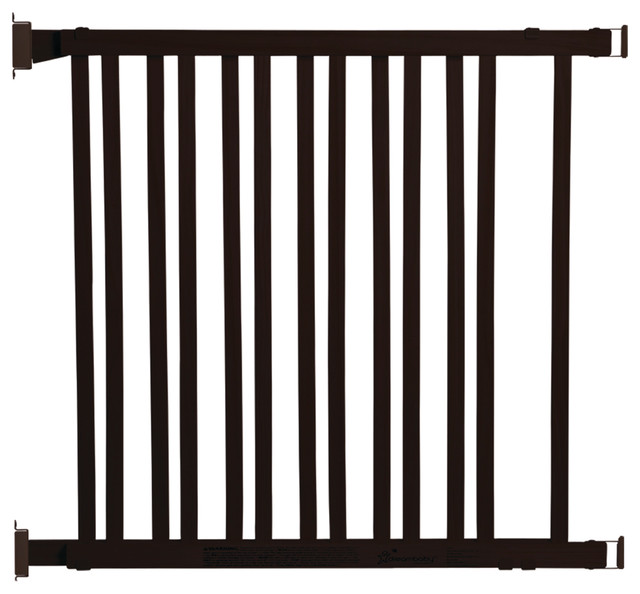 Charmant Nelson Adjustable Wood Gate Espresso Hardware Mount
