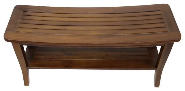 Ala Teak Indoor Outdoor Patio Garden Yard Bath Shower Spa Waterproof Stool Bench.