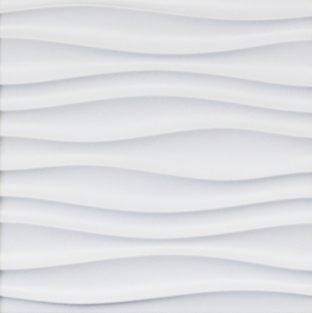 3D Wall Styling Panel Waves Texture 16 Piece Plain White