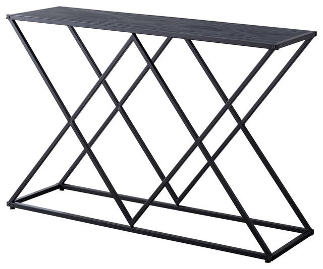 Swell Greta Entryway Console Sofa Table Black Metal Frame Gray Wood Top Ibusinesslaw Wood Chair Design Ideas Ibusinesslaworg