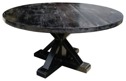 Criss Cross Round Table Eclectic Dining Tables By