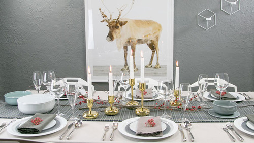 Idee Creative Natale 2016 : Idee creative per la tavola di natale dilei