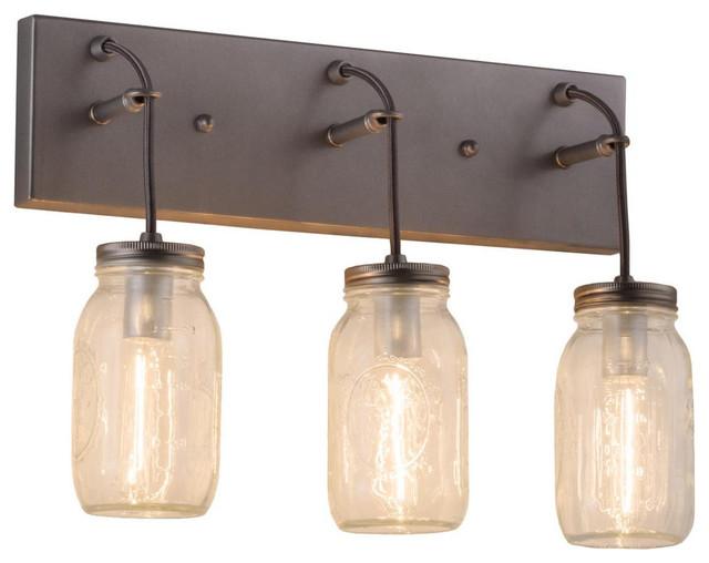 Original Rustic Mason Jar Vanity Light By Reclaimerdesign On Etsy