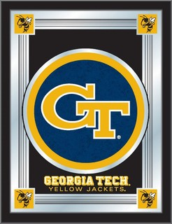 "Georgia Tech 17""x22"" Logo Mirror - Contemporary - Game Room Wall Art And Signs - by Holland Bar ..."