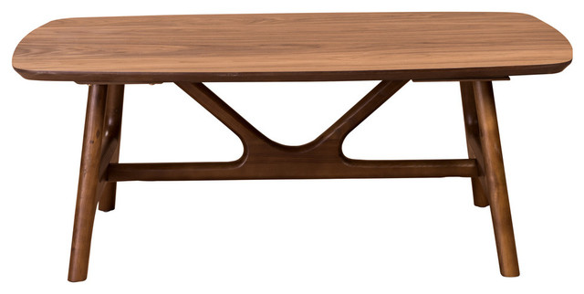 "Travis 48"" Coffee Table, American Walnut."