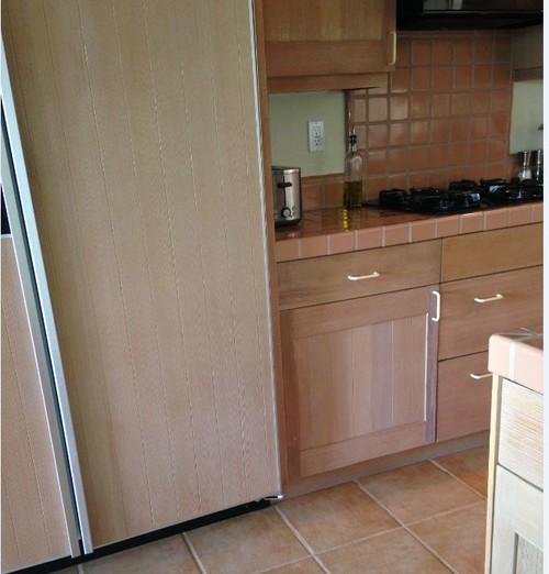 Kitchen Tiles Orange: Pinkish/orange/cream Floor Tiles & Whitewash