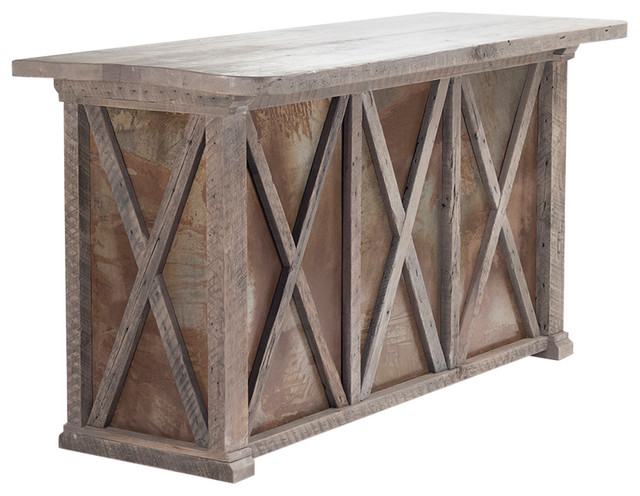 Awesome Valerie Antique Style French Country Rustc Reclaimed Wood Top Rust Bar  Cabinet Traditional Wine