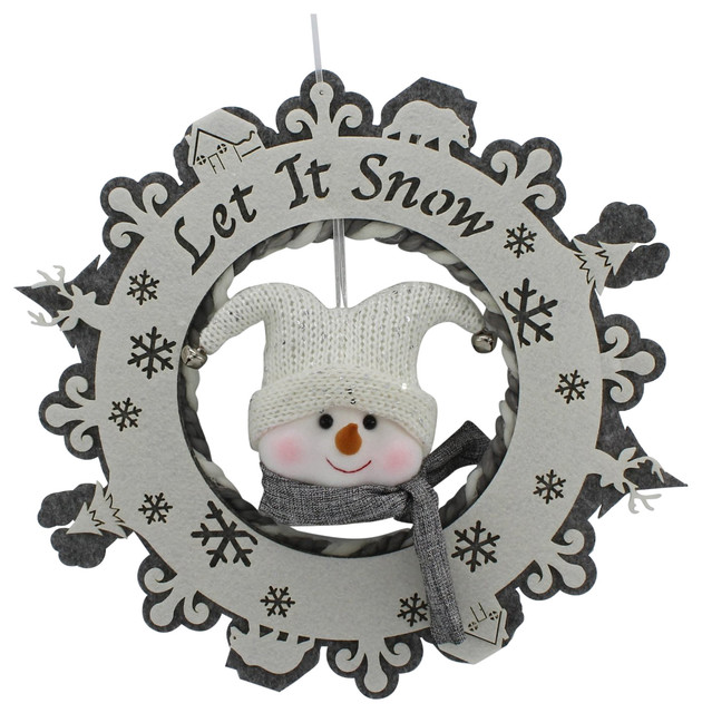Let It Snow Snowman Wreath.