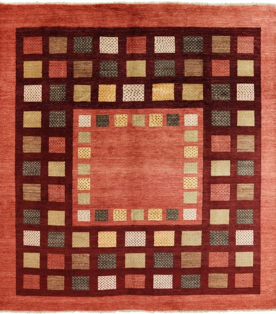 Houzz Spring Landscaping Trends Study: 8x9 Oriental Gabbeh Area Rug, P4271