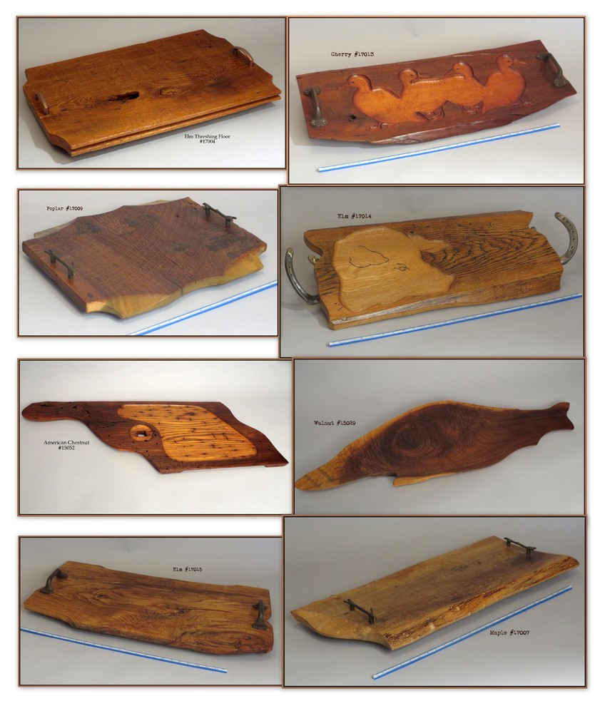 Aged Wood Serving Trays. Reclaimed Wood.