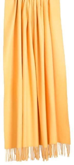 100% Baby Alpaca Throw-Blanket, Yellow