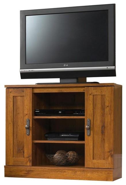 Sauder Harvest Mill Corner Tv Stand Contemporary Entertainment