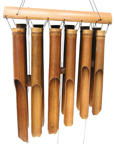 Double Antique Bamboo Wind Chime Traditional Wind Chimes By Cohasset Gifts Garden