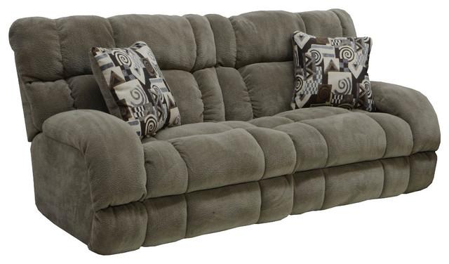 Catnapper Siesta Lay Flat Reclining Sofa, Porcini