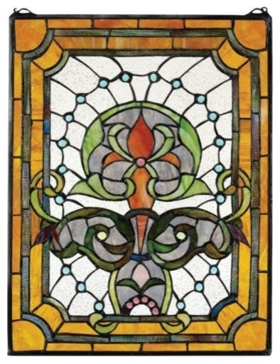 Kendall Manor Art Glass Window