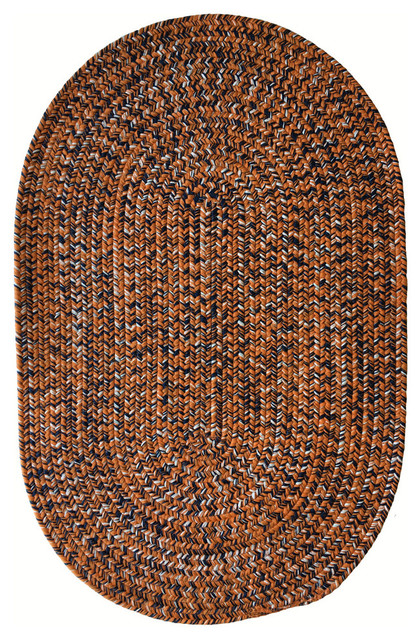 Team Spirit Oval Braided Rug Contemporary Outdoor Rugs
