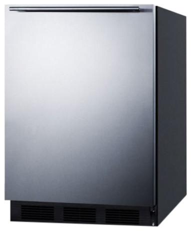 Built-In Undercounter All Refrigerator, Black.