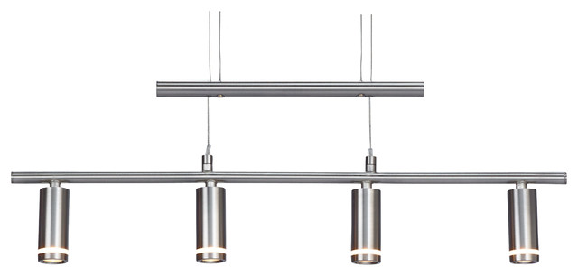 4 Light Adjustable Pendant Modern Kitchen Island Lighting
