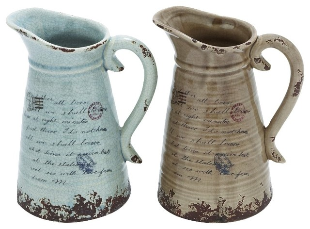Easy To Use And Lightweight Ceramic Pitcher With Antique