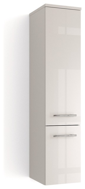 Modern Bath Wall Cabinet Model Concetto 8050 White Gloss Finish ...