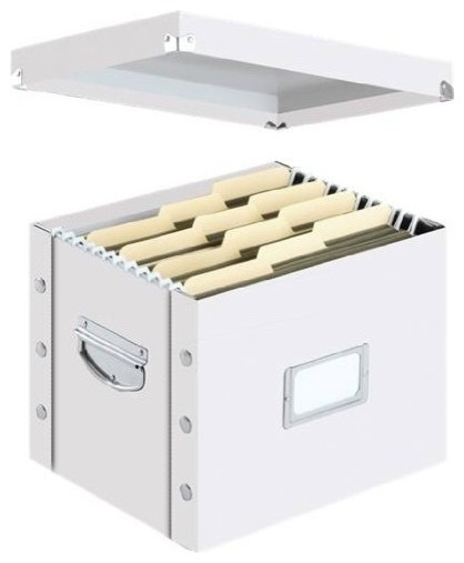 Snap-N-Store Letter Size File Box, White.